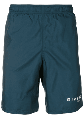 Givenchy logo swim shorts - Blue