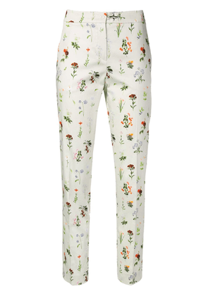 Fay floral print trousers - Neutrals