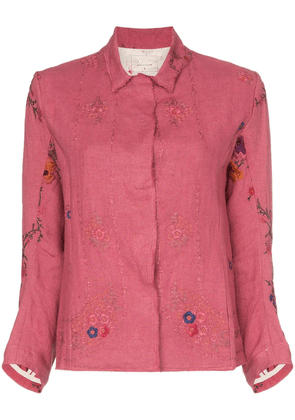 By Walid Haya embroidered jacket - Pink