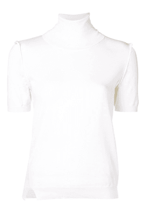 P.A.R.O.S.H. turtleneck knitted top - White