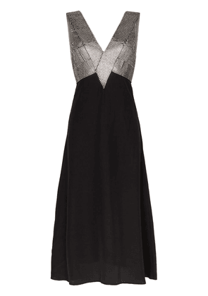 Christopher Kane crystal bodice dress - Black