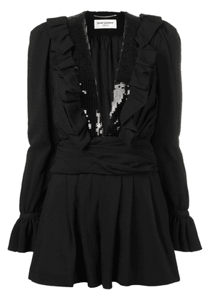 Saint Laurent sequin detail playsuit - Black