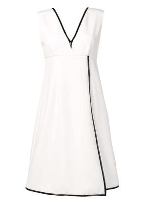 Gianluca Capannolo contrast piping dress - White