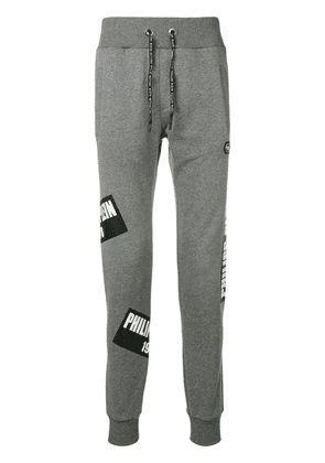 Philipp Plein patched joggers - Grey