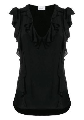 Dondup ruffled top - Black
