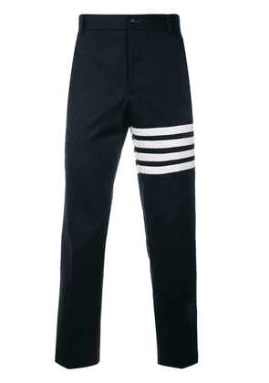 Thom Browne Seamed 4-Bar Stripe Unconstructed Chino Trouser In Cotton