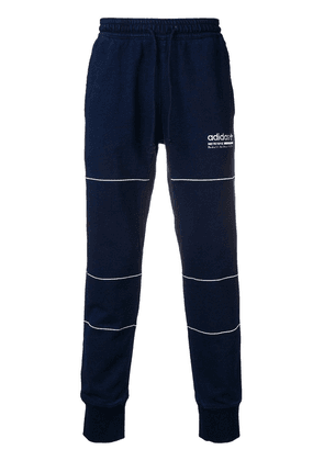 Adidas contrast logo track pants - Blue
