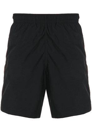 Alexander McQueen side-stripe swim shorts - Blue