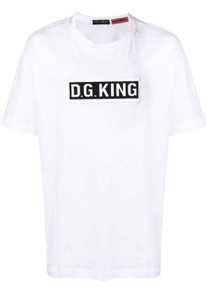Dolce & Gabbana 'D.G. King' patch T-shirt - White