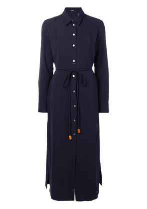 Theory long-sleeve fitted dress - Blue