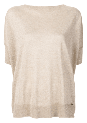Fay metallic knitted top - Neutrals