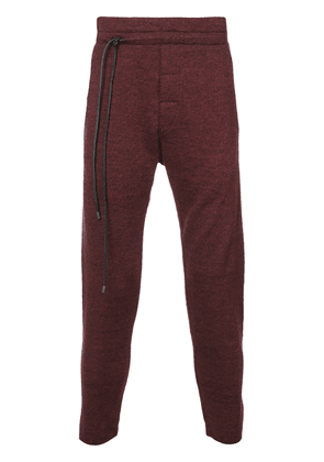 Daniel Andresen string detail track trousers - Red