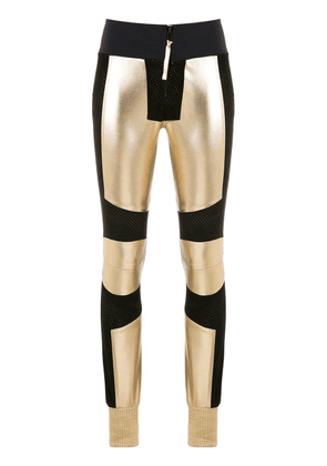 Andrea Bogosian panelled leather trousers - Yellow