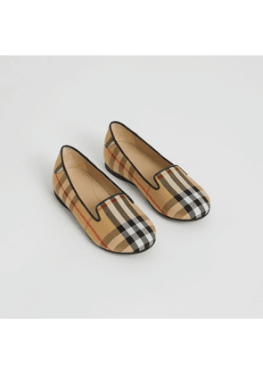 Burberry Childrens Vintage Check Slippers