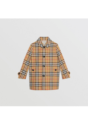 cc2e0413ee2 Burberry Childrens Vintage Check Cotton Car Coat