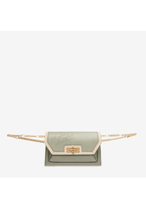Bally Sofy Green, Women's calf leather bag in pale green