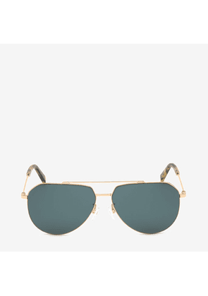Bally Palm Aviator Sunglasses Pink, Men's Universal fit sunglasses in shiny rose gold and petrol