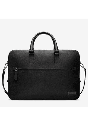 Bally Bryston Black, Men's embossed calf leather business bag in black
