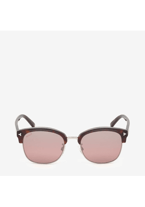 Bally Hype Browline Sunglasses Brown, Unisex Universal fit sunglasses in havana and peach