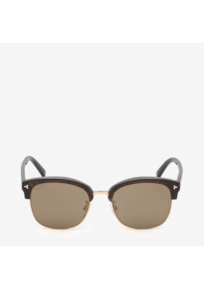 Bally Hype Browline Sunglasses Brown, Unisex Universal fit sunglasses in havana and bronze