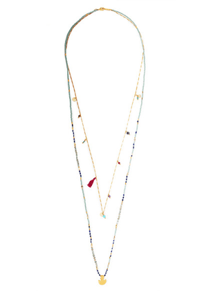 Chan Luu - Gold-tone Multi-stone Necklace - one size