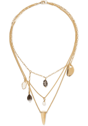 Isabel Marant - Gold-tone Multi-stone Necklace - one size