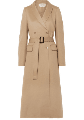 Gabriela Hearst - Joaquin Double-breasted Pleated Cashmere Coat - Beige