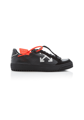 Off-White c/o Virgil Abloh Suede-Trimmed Leather Low-Top Sneakers