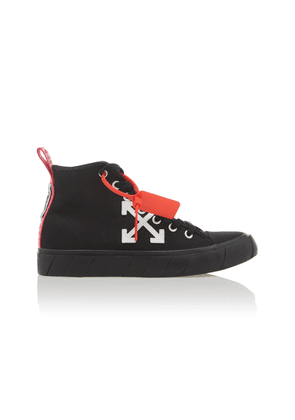 Off-White c/o Virgil Abloh High-Top Cotton-Canvas Arrow Sneakers