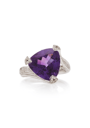 Akillis 18K Gold Amethyst And Diamond Ring