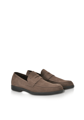 Fratelli Rossetti Designer Shoes, Ebony Soft Suede Penny Loafer Shoes