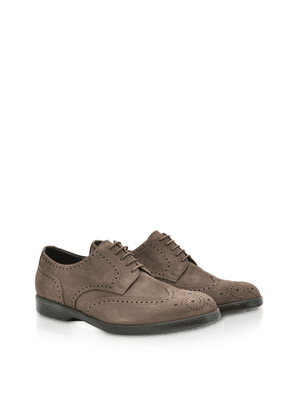 Fratelli Rossetti Designer Shoes, Ebony Suede Lace-up Wilson Derby Shoes
