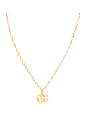 Double G 18kt gold and topaz necklace