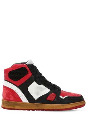 Battalion Leather High Top Sneakers