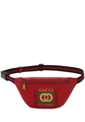 Logo Leather Belt Bag