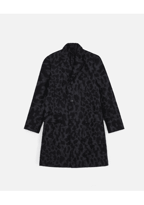 Stella McCartney Black Logan Leopard Coat, Men's, Size 36