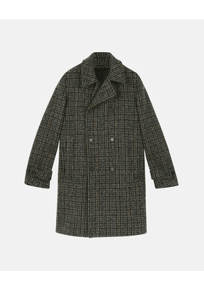 Stella McCartney Black Lance Check Coat, Men's, Size 36
