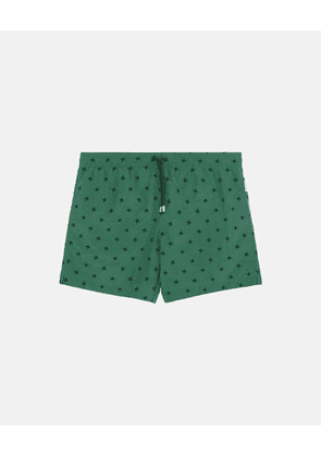 Stella McCartney Joy Green / Pearl Sand Short-Length Embroidery Swim Shorts, Men's, Size 30
