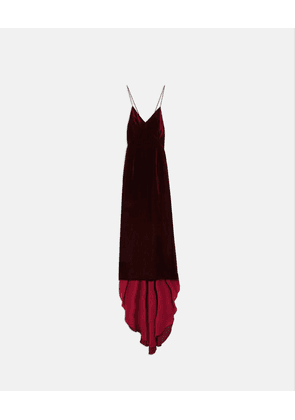 Stella McCartney Red Paulina Velvet Dress, Women's, Size 14