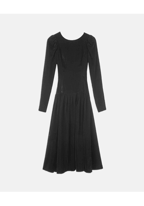 Stella McCartney Black Marina Velvet Dress, Women's, Size 6