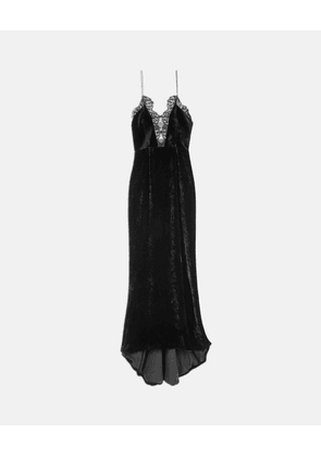 Stella McCartney Black Clementine Velvet Dress, Women's, Size 10