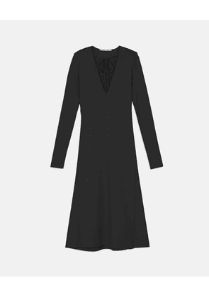 Stella McCartney Black Compact Knit Dress, Women's, Size 6
