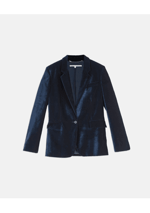 Stella McCartney Blue Nicole Velvet Jacket, Women's, Size 6