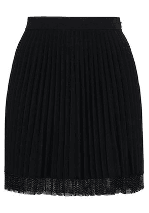 Alexander Wang Woman Pleated Stretch-knit Mini Skirt Black Size S