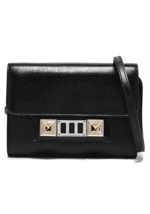 Proenza Schouler Woman Ps11 Glossed-leather Shoulder Bag Black Size -