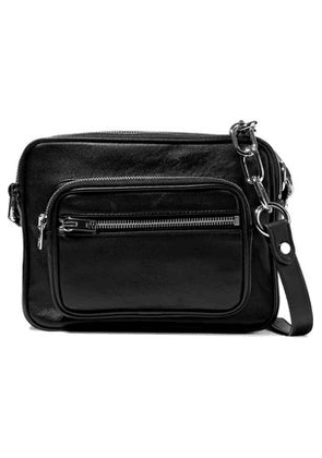 Alexander Wang Woman Attica Leather Shoulder Bag Black Size -