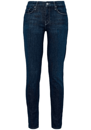 Mother Woman Faded Mid-rise Skinny Jeans Dark Denim Size 29