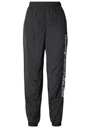 Opening Ceremony Woman Embroidered Printed Shell Track Pants Black Size M