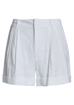 Alice + Olivia Woman Linen-blend Shorts Off-white Size 2