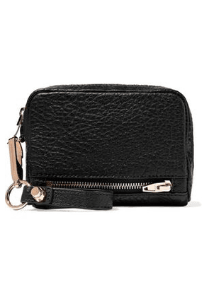 Alexander Wang Woman Textured-leather Wallet Black Size -